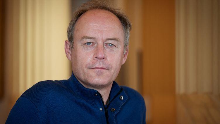 Denis Gravouil, membre de la direction de la CGT, 14 avril 2021. (BERTRAND GUAY / AFP)