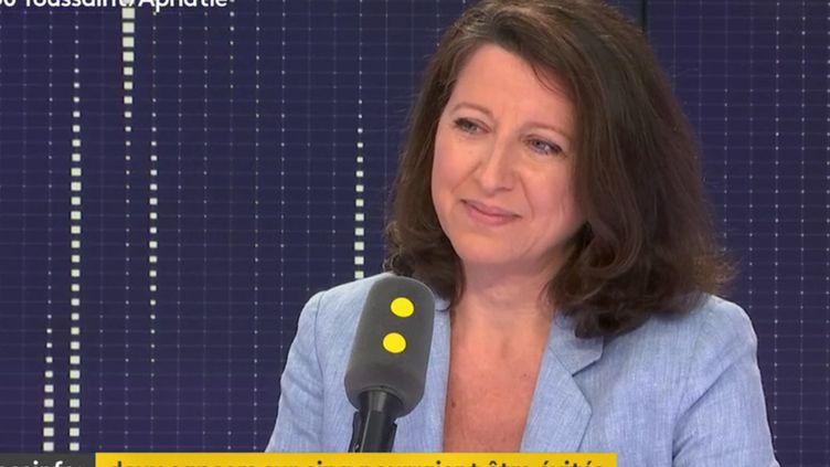 La ministre de la Santé, Agnès Buzyn, invitée de franceinfo mardi 26 juin. (RADIO FRANCE / FRANCE INFO)