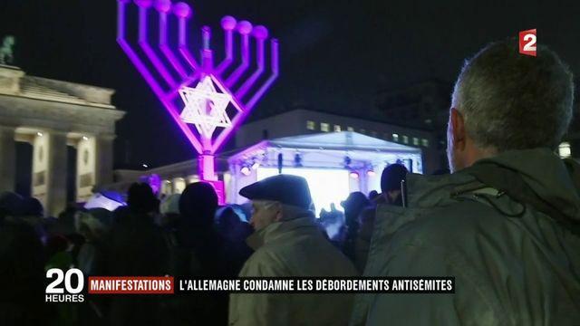 Manifestations : l'Allemagne condamne les débordements antisémites