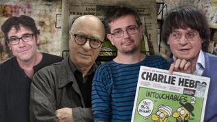 (Quatre grandes figures du dessin de presse ont été tués lors de l'attentat contre l'hebdo satirique Charlie Hebdo © Yacine Sahnoune / MAXPPP)
