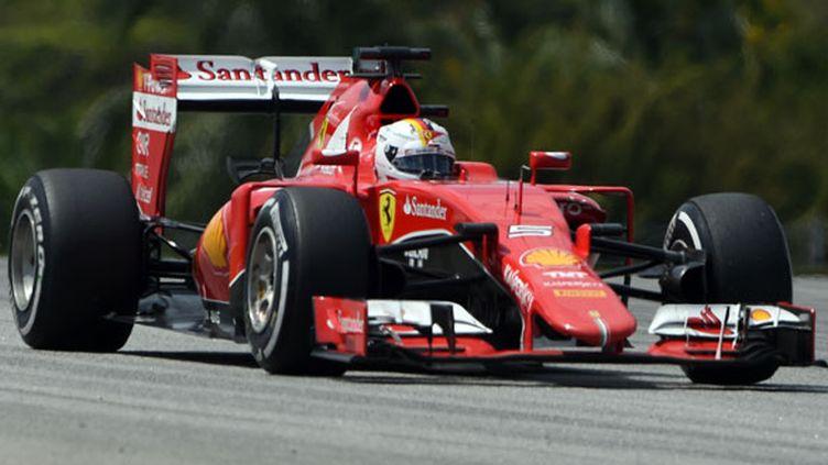 Le pilote allemand de Ferrari, Sebastian Vettel