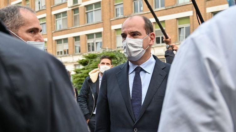 Le Premier ministre, Jean Castex, en déplacement à Lille (Nord), le 16 octobre 2020. (DENIS CHARLET / AFP)