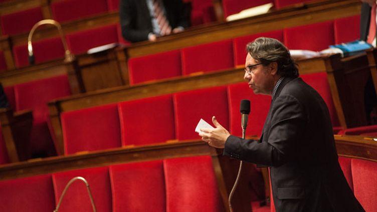 (Frédéric Lefebvre défend ce vendredi un amendement contre le gaspillage alimentaire © MaxPPP)