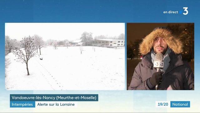 Intempéries : la neige s'empare du nord-est de la France