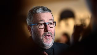 Philippe Starck, le 17 avril 2018, à Milan. (MIGUEL MEDINA / AFP)