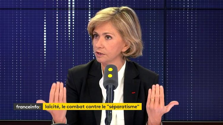 La présidente de la région Ile-de-France, était invitée sur franceinfo vendredi 14 février. (FRANCEINFO / RADIOFRANCE)