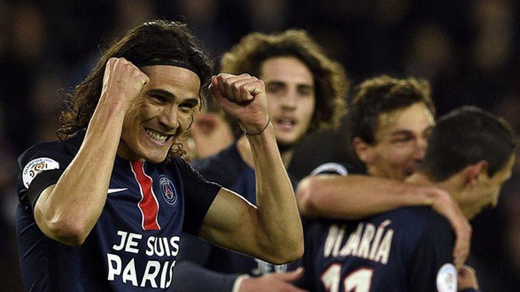 Cavani a montré la voie au PSG (FRANCK FIFE / AFP)