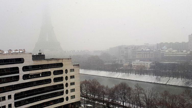 Parissous la neige, le 22 janvier 2019. (MAXPPP)