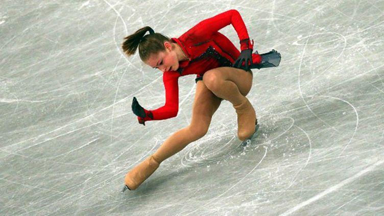 La jeune Russe de 15 ans Julia Lipnitskaia championne d'Europe (FERENC ISZA / AFP)