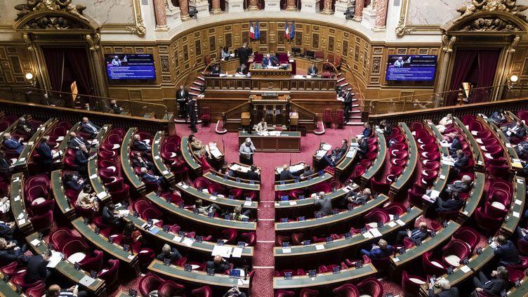 Une session de questions au gouvernement au Sénat, à Paris, le 10 juin 2020. (VINCENT ISORE / MAXPPP)