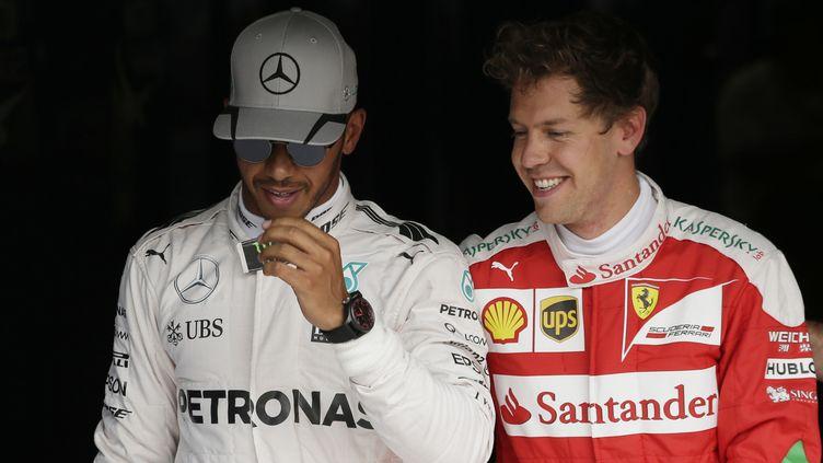 Lewis Hamilton (Mercedes) et Sebastian Vettel (Ferrari), la grande rivalité pour 2017 ? (?  / REUTERS)