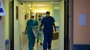 150 soignants sont arrivés début août dans les hôpitaux guadeloupéens, en renfort de ceux déjà présents, pour faire face à l'afflux de malades. Il en faudrait une centaine de plus, estime le responsable de la cellule Covid-19 du CHU de Pointe-à-Pitre. (CEDRICK ISHAM CALVADOS / AFP)