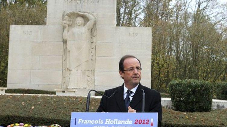François Hollande dans la Marne, à l'occasion du 11 novembre (FRANCOIS NASCIMBENI / AFP)