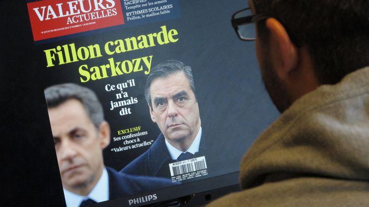 """La une du magazine """"Valeurs actuelles"""", le 9 octobre 2013. (FRANCETV INFO)"""