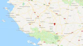 Un séisme de magnitude 4,8 a secoué la Vendée, le 12 février 2018. (GOOGLE MAPS)