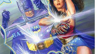 Batman et Wonder Woman apparaissent dans cet album publié dans lesannées 1960. (AP / SIPA)