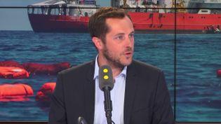 Nicolas Bay, eurodéputé Rassemblement national, invité de franceinfo lundi 13 août. (FRANCEINFO)