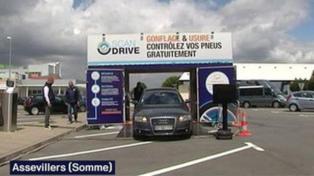 Scan Drive vérifie gratuitement les pneus des véhicules des vacanciers