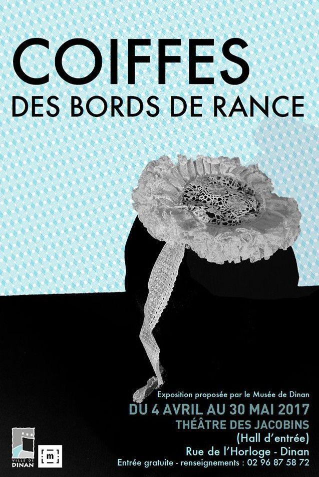 """Affiche de l'exposition """"Coiffes des bords de Rance"""""""