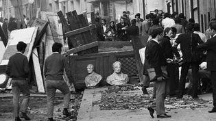 La dernière barricade de Mai 68 rue des Saint-Pères à Paris  (SIPAHIOGLU/SIPA)
