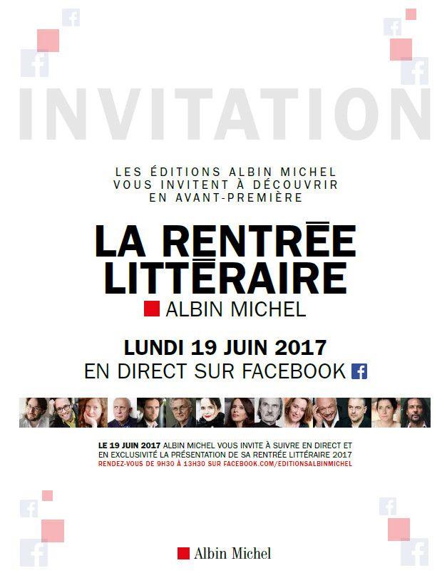 Invitation Facebook Live Albin Michel  (Albin Michel)