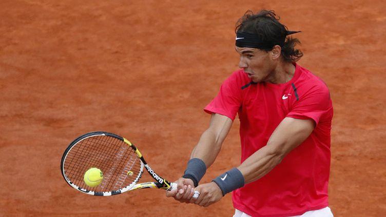 Rafael Nadal en action