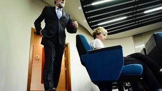 Le Premier ministre Mariano Rajoy à Madrid, en Espagne, le 27 octobre 2017. (JAVIER SORIANO / AFP)