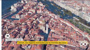 La ville de Bordeaux sous les eaux. (Climate Co Central)