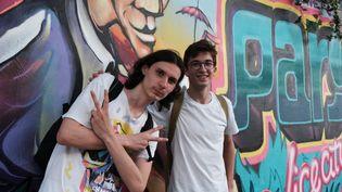 Adrien et Antoine, les gagnants de lachasse au trésor (Marine Ritchie)