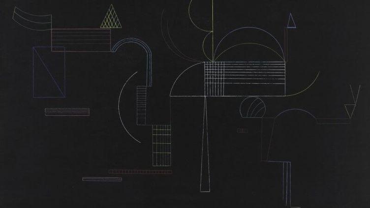 Von hier bis Dort (D'ici jusque-là), Vassily KANDINSKY, 1933 (© Centre Pompidou, MNAM-CCI, Dist. RMN-Grand Palais - Philippe Migeat)
