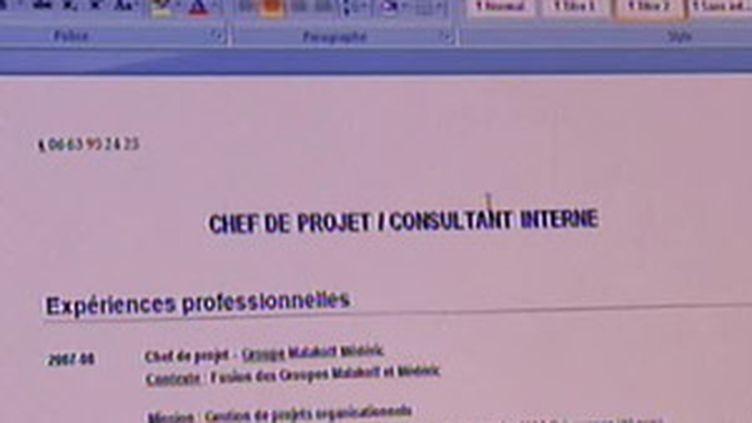 L'expérimentation sur le CV anonyme sera pilotée par un comité national et le bilan sera élaboré à la fin avril 2010. (© France 2)