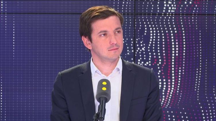 Aurélien Taché, député non-inscrit du Val-d'Oise (ex-LREM) sur franceinfo le 22 avril 2019. (FRANCEINFO / RADIOFRANCE)