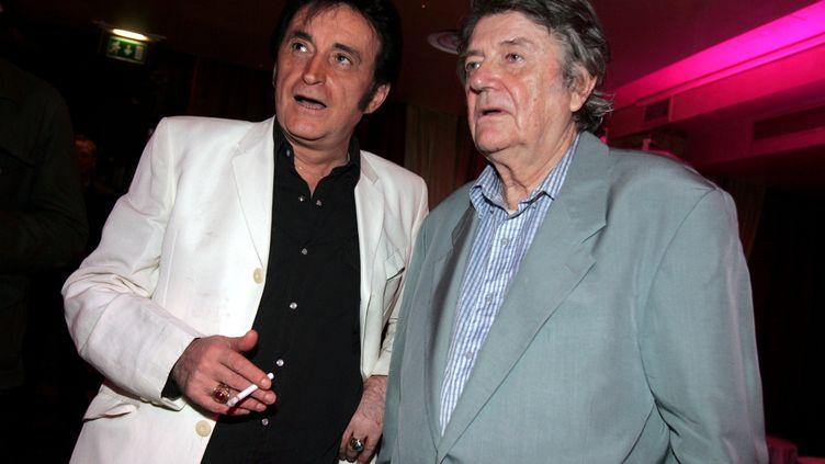 Dick Rivers et Jean-Pierre Mocky, à Paris, en 2006. (MAXPPP)