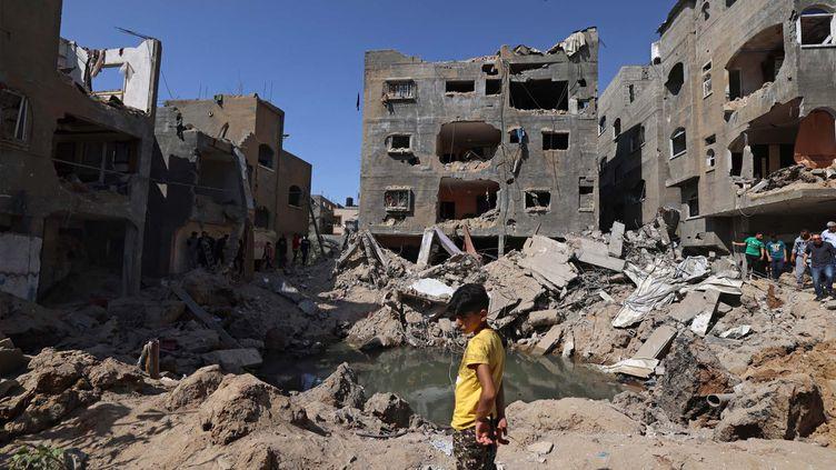 Un enfant à Gaza, le 21 mai 2021. (EMMANUEL DUNAND / AFP)