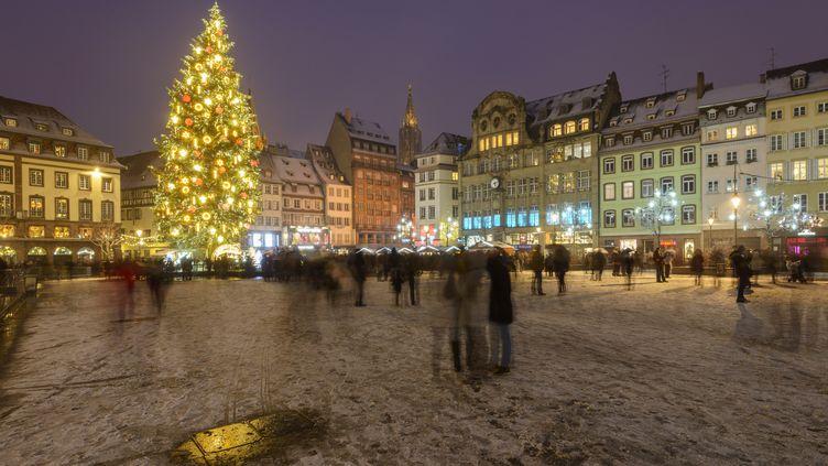La place Kleber à Strasbourg. (JEAN ISENMANN  / ONLY FRANCE / AFP)