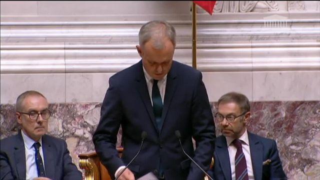 """Assemblée : des députés """"insoumis"""" Mélenchon et Ruffin n'applaudissent pas le nouveau président"""