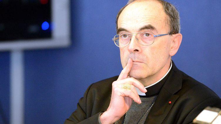 (Monseigneur Barbarin le 15 mars 2016, à Lourdes. ©MaxPPP)