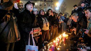 Hommage aux victimes des attentats de Charlie, place de la République à Paris samedi 7 janvier 2017  (Michael Bunel / NurPhoto)