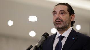 Le nouveau ministre libanais, Saad Hariri, le 22 octobre 2020. (ANWAR AMRO / AFP)