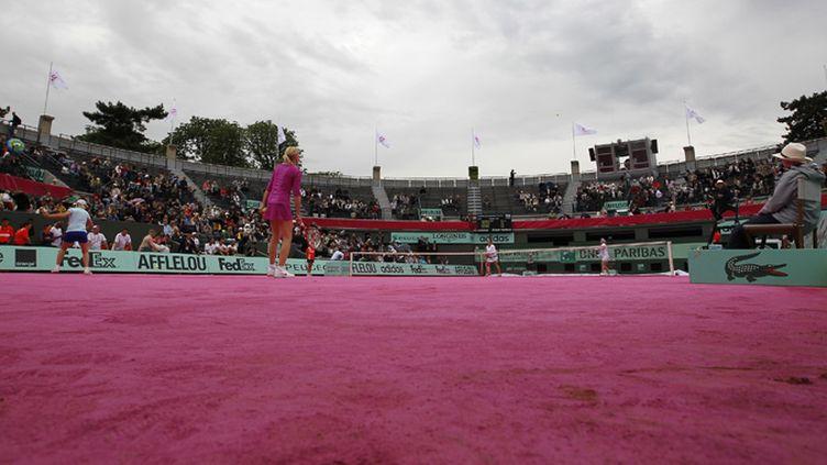 Un court rose, l'expérience a été tentée à Roland-Garros pour la journée de jeudi, réservée aux demi-finales féminines