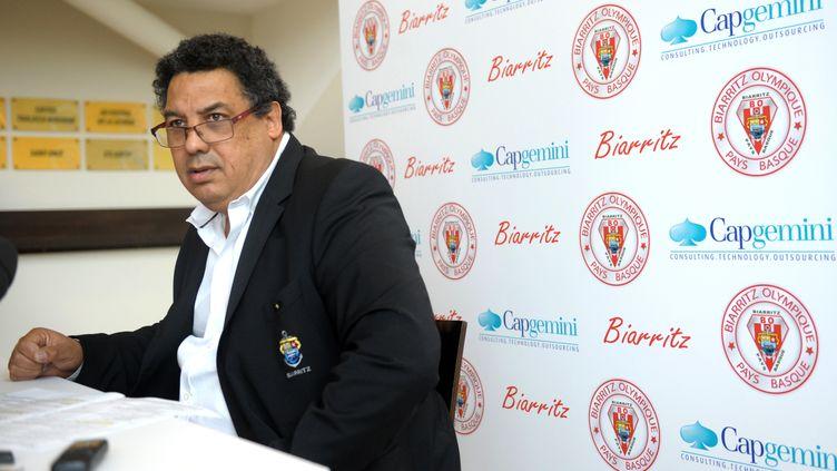 Serge Blanco avait présenté mardi sa démission de la présidence du BO (GAIZKA IROZ / AFP)