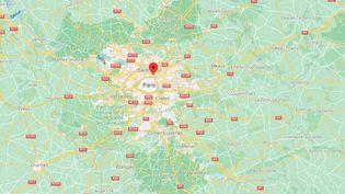 Capture écran de Google Maps situant Aubervilliers (Seine-Saint-Denis) réalisée lundi 13 septembre 2021. (CAPTURE D'ECRAN GOOGLE MAPS)