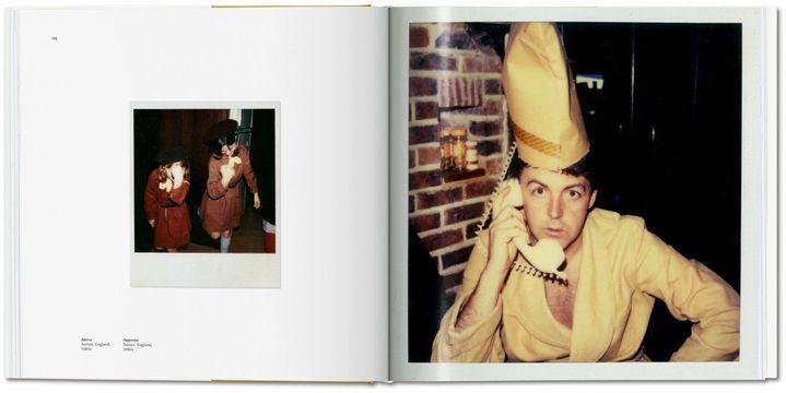 Une double page extraite de The Polaroid Diaries de Linda McCartney édité chez Taschen dans laquelle on voit deux photos prises dans le Sussex (Grande-Bretagne) dans les années 80. (LINDA McCARTNEY / TASCHEN)
