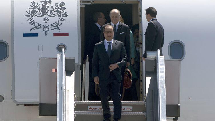 François Hollande, lors de son déplacement aux Philippines, le 26 février 2015. (NOEL CELIS / AFP)