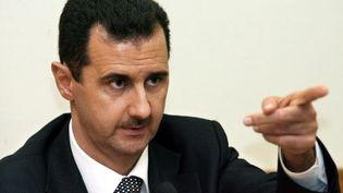 Bachar al-Assad est appelé à quitter sa fonction de président par les Etats-UNis et l'UE. (YURI KADOBNOV / AFP FILES / AFP)