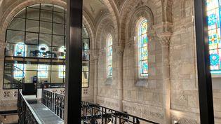 La chapelle Mondésir à Nantes a été transformée en espace de coworking, avril 2021. (VICTORIA KOUSSA / RADIO FRANCE)