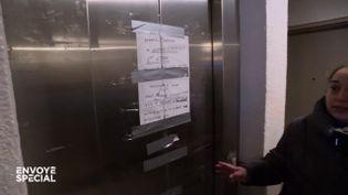 Pource militant, lespannes d'ascenseurs à répétition dans les HLM sont le signe d'un mépris social (ENVOYÉ SPÉCIAL  / FRANCE 2)