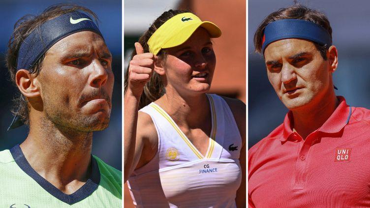 Fiona Ferro, Rafael Nadal et Roger Federer sont en lice jeudi à Roland-Garros pour le 2e tour. (AFP)