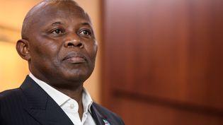Vital Kamerhe était considéré comme n°2 du régime congolais. L'ancien directeur de cabinet du président Félix Tshisekedi a été condamné à 20 ans de prison pour corruption le 20 juin 2020. (FABRICE COFFRINI / AFP)