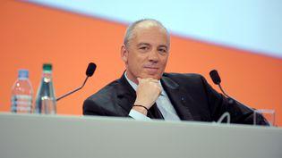Le PDG d'Orange, Stéphane Richard, lors d'une assemblée générale du groupe, le 28 mai 2013 à Paris. (ERIC PIERMONT / AFP)